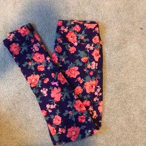 Lularoe Floral leggings OS